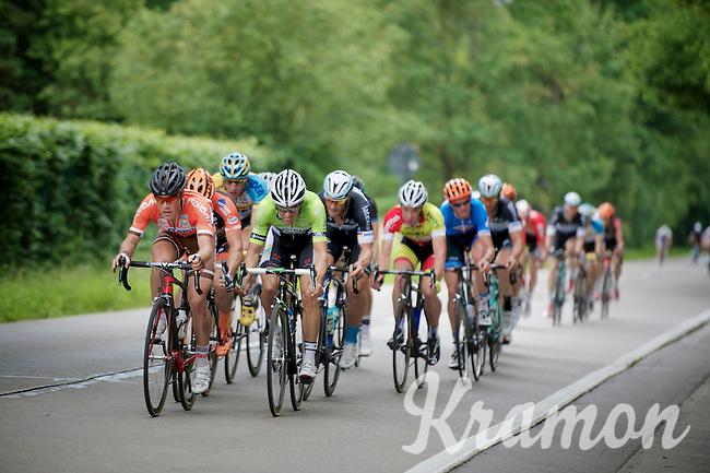 CX  rider Sven Vanthourenhout (BEL/Crélan-AAdrinks) & Maxime Vantomme (BEL/Roubaix Lille Métropole) leading the lead group (with Tom Boonen in tow)<br /> <br /> Heistse Pijl 2014