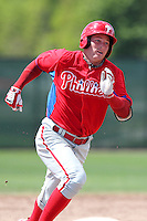 Philadelphia Phillies Trey Ford #54 during a minor league spring training game against the Toronto Blue Jays at the Carpenter Complex on March 16, 2012 in Clearwater, Florida.  (Mike Janes/Four Seam Images)