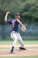 August 12, 2008: Santos Rodriquez of the GCL Braves.  Photo by: Chris Proctor/Four Seam Images