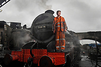 BNPS.co.uk (01202 558833)<br /> Pic: ZacharyCulpin/BNPS<br /> <br /> Rob Forster finishes up last on the maintenance one of the many steam trains at Swanage<br /> <br /> Full steam ahead for Swanage Railway reopening after lockdown<br /> <br /> Volunteers are gearing up for the reopening of one of Britain's most popular heritage railways.<br /> <br /> Swanage Railway in Dorset will resume running steam trains on Monday after the government gave the green light to easing coronavirus restrictions.<br /> <br /> The Purbeck railway has spent the fallow period by doing essential maintenance work on the locomotives, tracks and signals.<br /> <br /> They are attempting to raise £65,000 to complete a new carriage shed to store ten carriages which was interrupted by the pandemic.