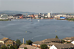 Cardiff Bay harbour from Penarth Wales.