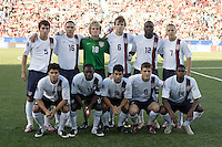 USA starting XI. The United States (USA) defeated Uruguay (URU) 2-1 in overtime during a FIFA U-20 World Cup round of 16 match at the National Soccer Stadium at Exhibition Place, Toronto, Ontario, Canada, on July 11, 2007.