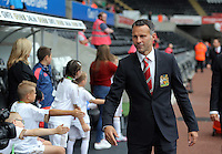 Pictured: Ryen Giggs of Manchester United arrives Sunday 30 August 2015<br /> Re: Premier League, Swansea v Manchester United at the Liberty Stadium, Swansea, UK