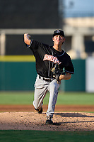 Jupiter Hammerheads pitcher Evan Fitterer (36) during a game against the Lakeland Flying Tigers on July 30, 2021 at Joker Marchant Stadium in Lakeland, Florida.  (Mike Janes/Four Seam Images)