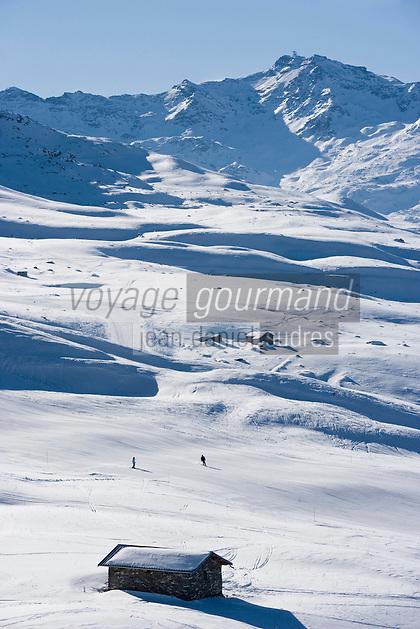 Europe/France/Rhone-Alpes/73/Savoie/Saint-Martin-de-Belleville: le domaine skiable de la vallée de Belleville [rejoint celui des Trois Vallées]