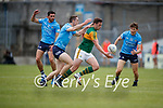 David Moran, Kerry in action against Brian Fenton, Dublin and Michael Fitzimons, Dublin during the Allianz Football League Division 1 South between Kerry and Dublin at Semple Stadium, Thurles on Sunday.