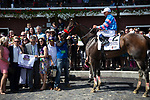 SARATOGA SPRING,NY-AUG 24: Come Dancing,ridden by Javier Castellano,wins the Ballerina Stakes at Saratoga Race Track on August 24,2019 in Saratoga Spring,New York. Kaz Ishida/Eclipse Sportswire/CSM