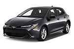 2021 Toyota Corolla-Hatchback SE 5 Door Hatchback Angular Front automotive stock photos of front three quarter view
