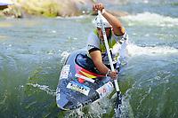 5th September 2021; Parc Olimpic del Segre, La Seu D'Urgell ICF Slalom World Cup, Women's Canoe Final;  Miren Lazkano (ESP)
