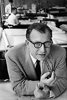 Eero Saarinen, 1955. Detroit. Photographer John G. Zimmerman