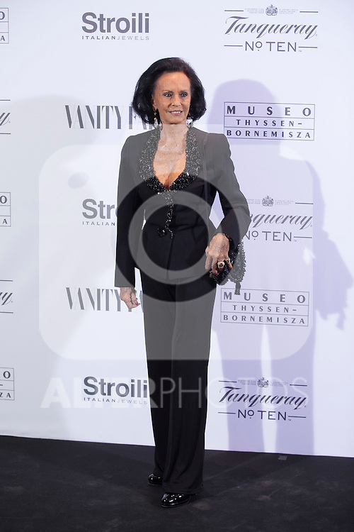 Sonsoles Diez de Rivera poses during the 'HUBERT DE GIVENCHY' exhibition inauguration at THYSSEN-BORNEMISZA museum in Madrid, Spain. October 20, 2014. (ALTERPHOTOS/Victor Blanco)