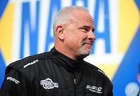 Feb. 19, 2012; Chandler, AZ, USA; NHRA top fuel dragster driver Cory McClenathan during the Arizona Nationals at Firebird International Raceway. Mandatory Credit: Mark J. Rebilas-