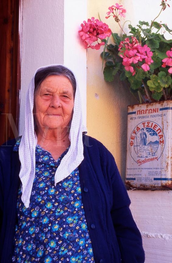 An Old Woman from Corfu Greece.