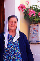 An Old Woman from Corfu Greece.