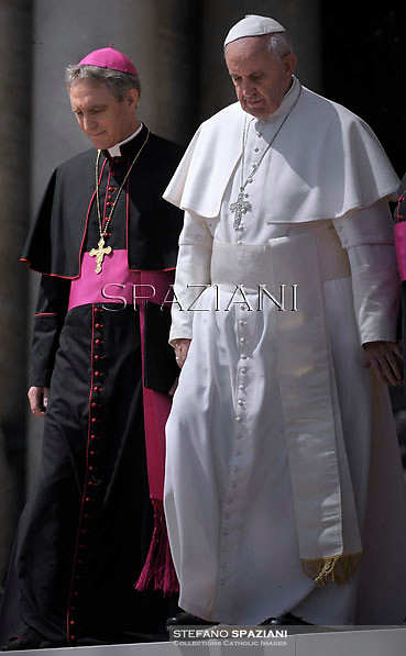 Pope Francis during his weekly general audience in St. Peter square at the Vatican, Wednesday. 24 April 2013