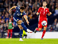 4th September 2021; Hampden Park, Glasgow, Scotland: FIFA World Cup 2022 qualification football, Scotland versus Moldova: Che Adams of Scotland takes a shot at goal