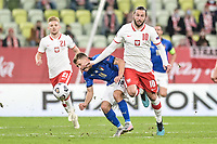 Danzica Nations League Gruppo A Polonia Italia Football - UEFA Nations League group A match Poland - Italy N/Z GRZEGORZ KRYCHOWIAK NICOLO BARELLA FOT MATEUSZ SLODKOWSKI / FOTONEWS / NEWSPIX.PL --- Newspix.pl PUBLICATIONxNOTxINxPOL 20201011FNMS93 <br /> ITALY ONLY