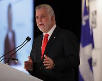 April 1st 2014 - Philippe, Couillard, Leader , Liberal Party of Quebec speak before the Montreal Board of Trade, Quebec elections will be held April 7, 2014.<br /> <br /> <br /> PHILIPPE COUILLARD<br /> ,Chef du Parti libéral du Québec s'adresse à la Chambre de Commerce du Montréal Métropolitain, le 1er avril 2014 dans le cades de la campagne electorale.<br /> <br /> Photo : Pierre Roussel