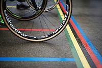 wheel ready for racing<br /> <br /> U23 men's race<br /> <br /> UCI 2016 cyclocross World Championships / Zolder, Belgium