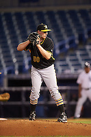 Bradenton Marauders relief pitcher Henry Hirsch (50) gets ready to deliver a pitch during a game against the Tampa Yankees on April 11, 2016 at George M. Steinbrenner Field in Tampa, Florida.  Tampa defeated Bradenton 5-2.  (Mike Janes/Four Seam Images)