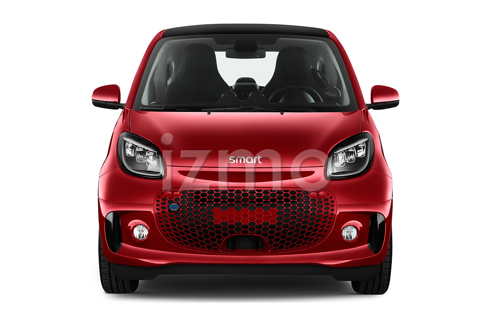 Car photography straight front view of a 2020 Smart EQ-fortwo Comfort-Plus 3 Door Hatchback Front View