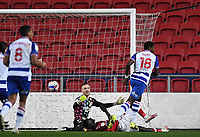 16th February 2021; Ashton Gate Stadium, Bristol, England; English Football League Championship Football, Bristol City versus Reading; Lucas Joao of Reading shoots and scores in the 41st minute 0-1