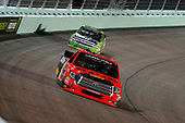 NASCAR Camping World Truck Series<br /> Ford EcoBoost 200<br /> Homestead-Miami Speedway, Homestead, FL USA<br /> Friday 17 November 2017<br /> Cody Coughlin, Ride TV/ Jegs Toyota Tundra and Kaz Grala, Stealth Chevrolet Silverado<br /> World Copyright: Russell LaBounty<br /> LAT Images