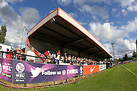 General view of the main stand at Meadow Park ahead of kick-off