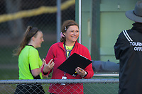 Match officials during the 2020 Lower North Island Girls Hockey Premiership match between St Matthew's Collegiate School and Napier Girls School at Fitzherbert Park Twin Turfs in Palmerston North, New Zealand on Tuesday, 1 September 2020. Photo: Dave Lintott / lintottphoto.co.nz