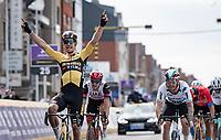 Wout van Aert (BEL/Jumbo-Visma) wins the 83rd Gent-Wevelgem - in Flanders Fields (ME - 1.UWT)<br /> <br /> 1 day race from Ieper to Wevelgem (BEL): 254km<br /> <br /> ©kramon