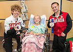 Calgary, AB - June 5 2014 - Kevin Reynolds and Karl Ludwig visiting children during the Celebration of Excellence Heroes Tour visit to the Alberta Children's Hospital. (Photo: Matthew Murnaghan/Canadian Paralympic Committee)