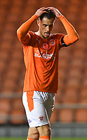 Blackpool's Jerry Yates<br /> <br /> Photographer Dave Howarth/CameraSport<br /> <br /> EFL Trophy - Northern Section - Group G - Blackpool v Leeds United U21 - Wednesday 11th November 2020 - Bloomfield Road - Blackpool<br />  <br /> World Copyright © 2020 CameraSport. All rights reserved. 43 Linden Ave. Countesthorpe. Leicester. England. LE8 5PG - Tel: +44 (0) 116 277 4147 - admin@camerasport.com - www.camerasport.com