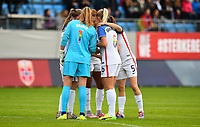 Sandefjord, Norway - June 11, 2017: The USWNT in action during the game vs Norway in an international friendly at Komplett Arena.