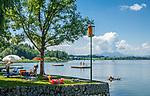 Oesterreich, Salzburger Land, Flachgau, der Wallersee bei bei Henndorf am Wallersee | Austria, Salzburger Land, region Flachgau, Waller Lake near bei Henndorf am Wallersee
