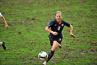 Amy Rodriguez chases the ball. The USA captured the 2010 Algarve Cup title by defeating Germany 3-2, at Estadio Algarve on March 3, 2010.