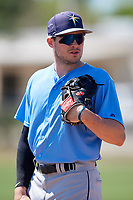 Tampa Bay Rays Seaver Whalen (79) warms up before a Minor League Spring Training game against the Minnesota Twins on March 17, 2018 at CenturyLink Sports Complex in Fort Myers, Florida.  (Mike Janes/Four Seam Images)