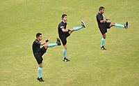 ITAGÜÍ - COLOMBIA, 29-10-2020: Leones F.C. y Águilas Doradas Rionegro en partido de vuelta por la tercera ronda de clasificación de la Copa BetPlay DIMAYOR 2020 jugado en el estadio Polideportivo Sur de Envigado. / Leones F.C. and Aguilas Doradas Rionegro in second leg match between Leones F.C. and Aguilas Doradas Rionegro for the third round of classification as part of BetPlay DIMAYOR Cup 2020 played at Polideportivo Sur stadiim in Envigado city.  Photo: VizzorImage / Luis Benavides / Cont