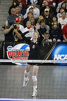 Omaha, NE - DECEMBER 20:  Outside hitter/setter Cassidy Lichtman #8 of the Stanford Cardinal during Stanford's 20-25, 24-26, 23-25 loss against the Penn State Nittany Lions in the 2008 NCAA Division I Women's Volleyball Final Four Championship match on December 20, 2008 at the Qwest Center in Omaha, Nebraska.