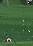 5 August 10: Troy Merritt escapes a bunker on the eigth hole in the Turning Stone Golf Championship at Atunyote Golf Club in Verona, New York