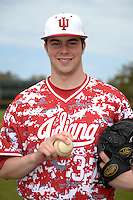 Indiana Hoosiers pitcher Scott Effross (37) poses for a photo before a game against the St. Joseph's Hawks on March 7, 2015 at North Charlotte Regional Park in Port Charlotte, Florida.  Indiana defeated St. Joseph's 3-2.  (Mike Janes/Four Seam Images)