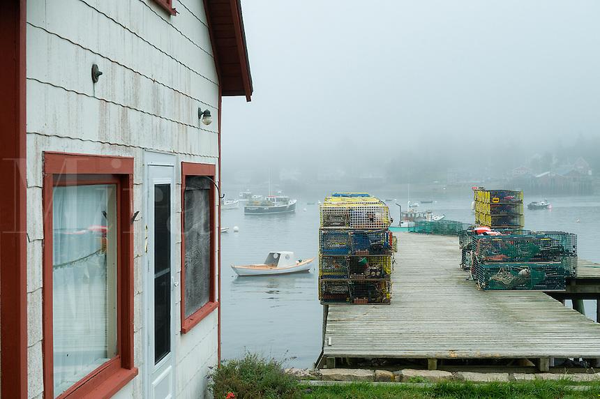 Fishing shack, Bernard, Mt Desert Island, Maine, USA
