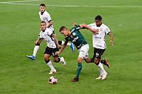 São Paulo (SP), 16/05/2021 - CORINTHIANS-PALMEIRAS - Renan, do Palmeiras em disputa de bola. Corinthians e Palmeiras se enfrentam em semifinal do Campeonato Paulista 2021, na Neo Quimica Arena, tarde deste domingo (16).