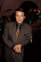 March 1993 file photo, Montreal, Quebec, Canada<br /> <br /> French-Italian  singer Salvatore Adamo<br /> pose for  photographers at a record launch in March 1993 in Montreal, Canada.