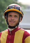 4 July 2010: jockey Julio Felix before the the 22nd running of the G3 Chicago Handicap at Arlington Park in Arlington Heights, Illinois.