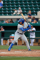 St. Lucie Mets Carlos Cortes (23) during a Florida State League game against the Lakeland Flying Tigers on April 24, 2019 at Publix Field at Joker Marchant Stadium in Lakeland, Florida.  Lakeland defeated St. Lucie 10-4.  (Mike Janes/Four Seam Images)