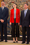 Queen Letitzia of Spain receive in audience to boards of the association Proyecto Hombre at Zarzuela Palace in Madrid. April 13, 2016. (ALTERPHOTOS/Borja B.Hojas)