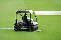 Continuous mopping up at the Hampshire Bowl during India vs New Zealand, ICC World Test Championship Final Cricket at The Hampshire Bowl on 18th June 2021
