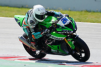 30th March 2021; Barcelona, Spain; Superbikes, WorldSSP600 , day 2 testing at Circuit Barcelona-Catalunya;    L. Taccini riding Kawasaki ZX 6R from Orelac Racing