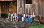 Calf marking and doctoring crew Goodell Ranch, Paloma, Calif.
