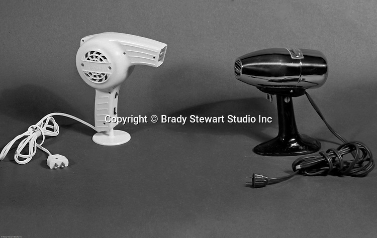 Client:  Edlis Company Inc.<br /> Ad Agency: None / Edlis<br /> Contact: Mr. Cohen<br /> Product: Oster and Rurita Hair Dryers<br /> Location: Brady Stewart Studio at 812 Market Street in Pittsburgh<br /> <br /> Studio photography of Oster and Rurita hair dryers for the Edlis Beauty and Barber Supplies catalog. Chrome & black Oster Airjet Model 202 Hair Dryer. Edlis is a beauty and barber distributor in the Pittsburgh area. They have been in business for over 100 years. They supply locally, nationwide, and internationally.